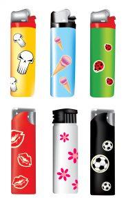 Bedruckte Feuerzeuge aus Kunststoff