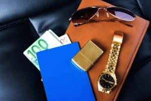 Edles Gepäck eines Geschäftsmann